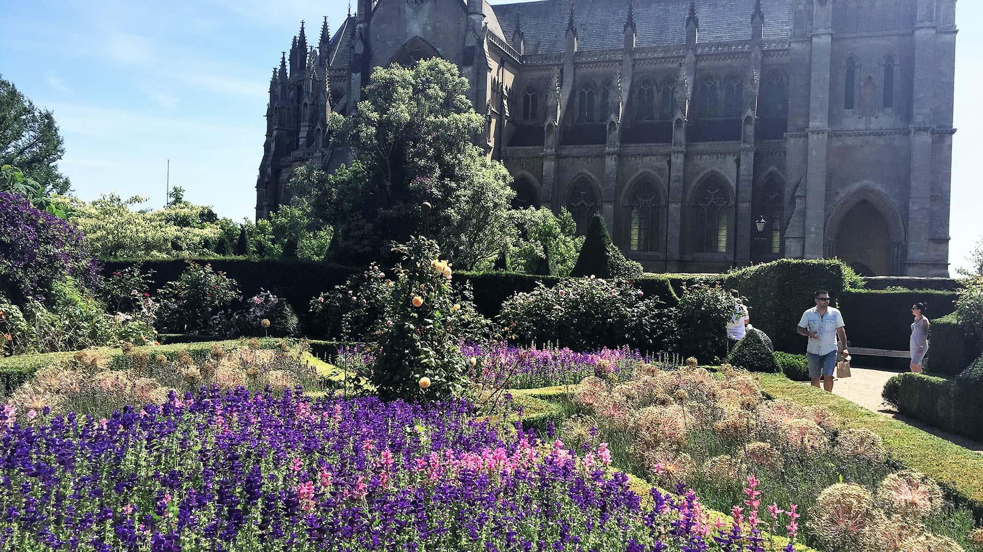 Gardens outside Arundel Castle