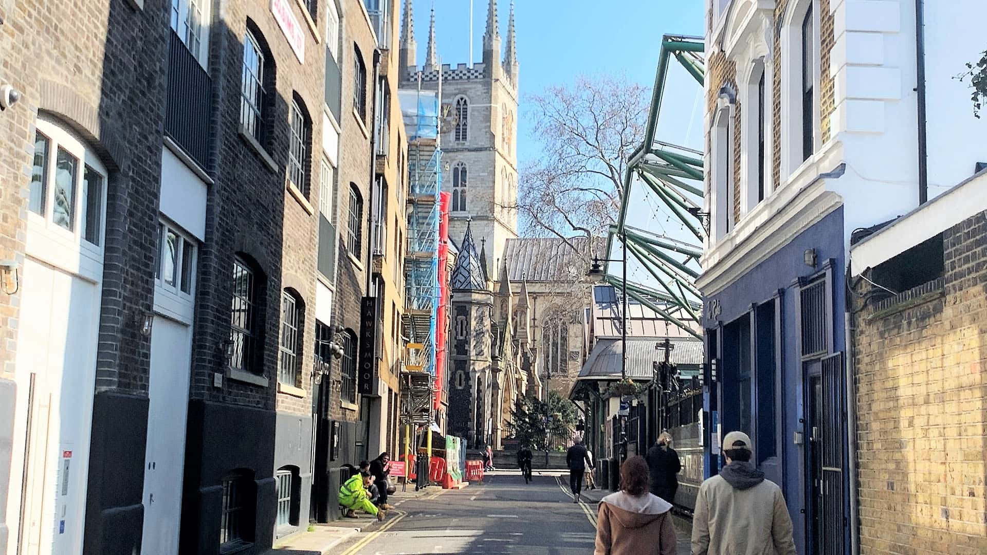 Street of London and Southwark Cathedral – London Virtual Tour