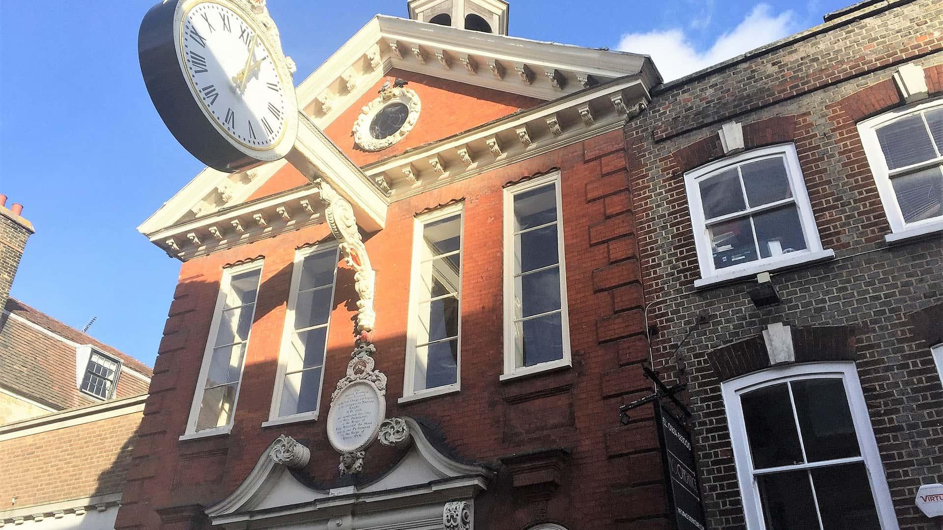 Clock in Rochester City Centre