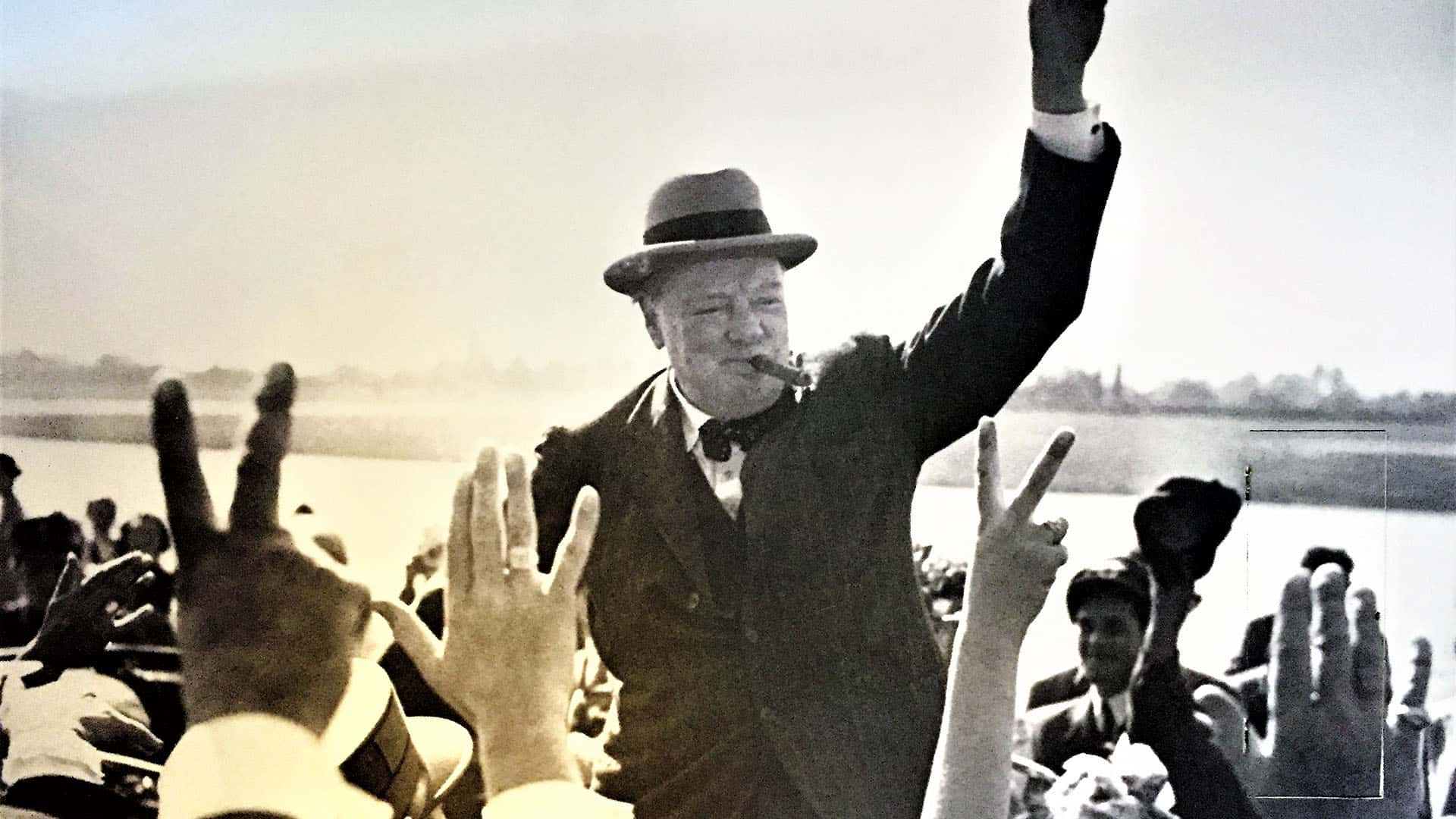 Churchill photograph at Chartwell House