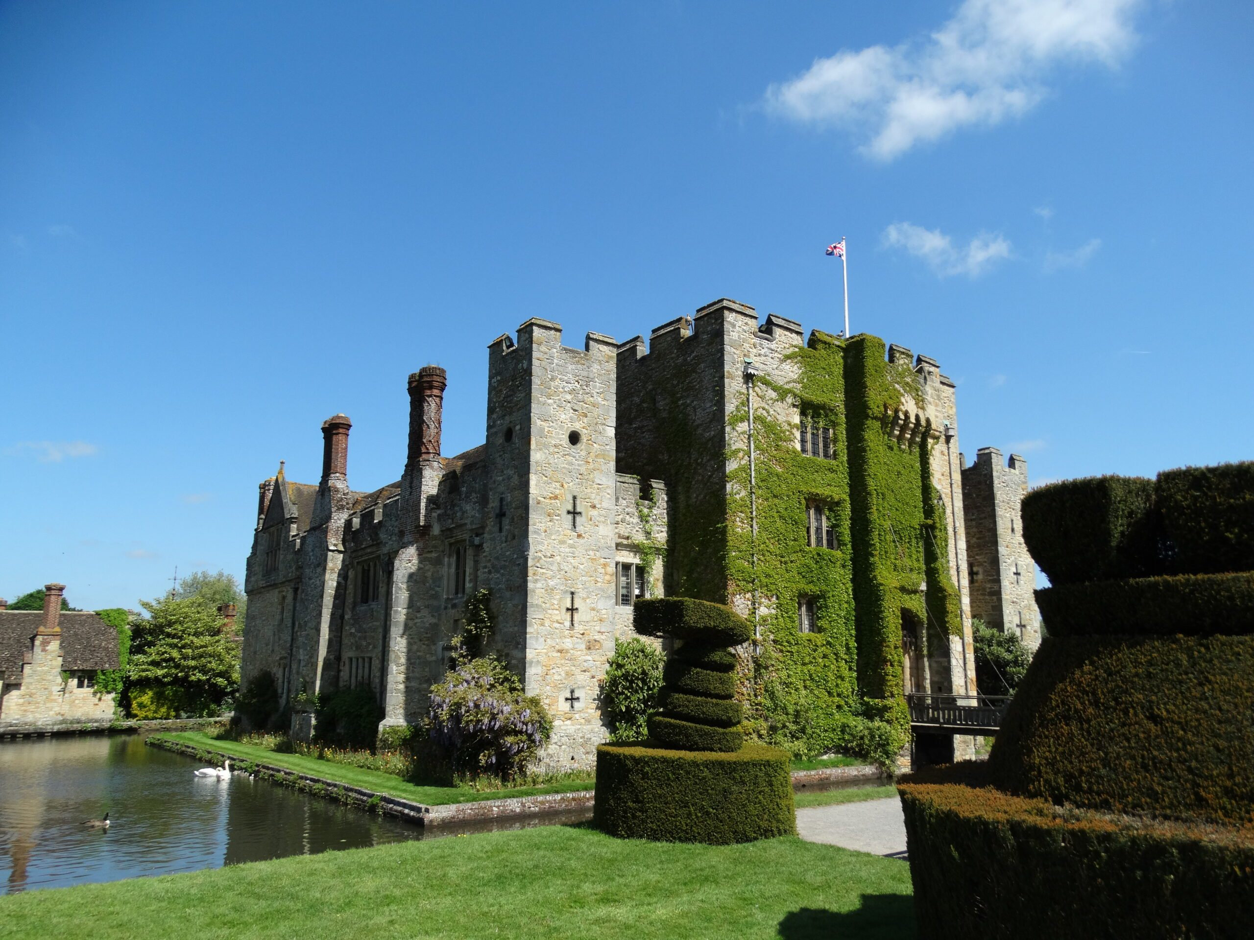 Hever Castle from outside