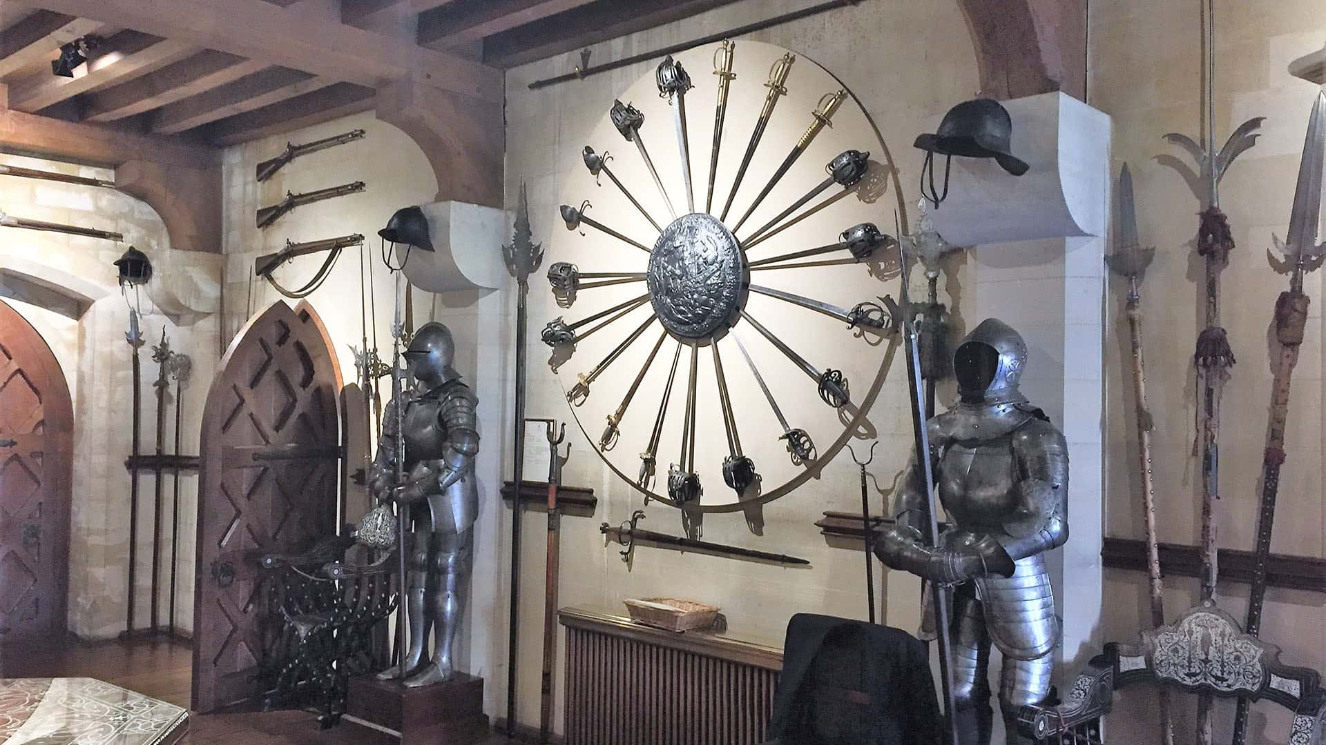 Armoury at Arundel Castle