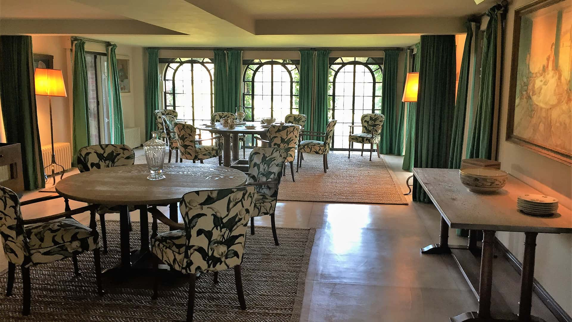 Dining room in Chartwell House