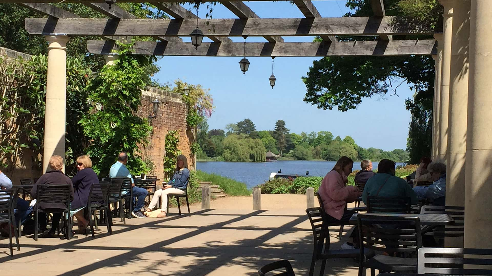 Hever Castle Outside Cafe