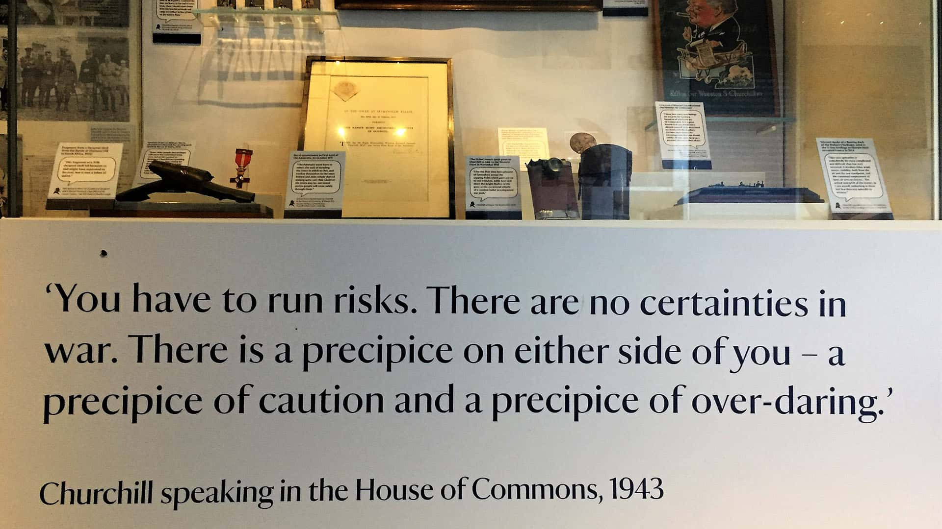Winston Churchill quote at Chartwell