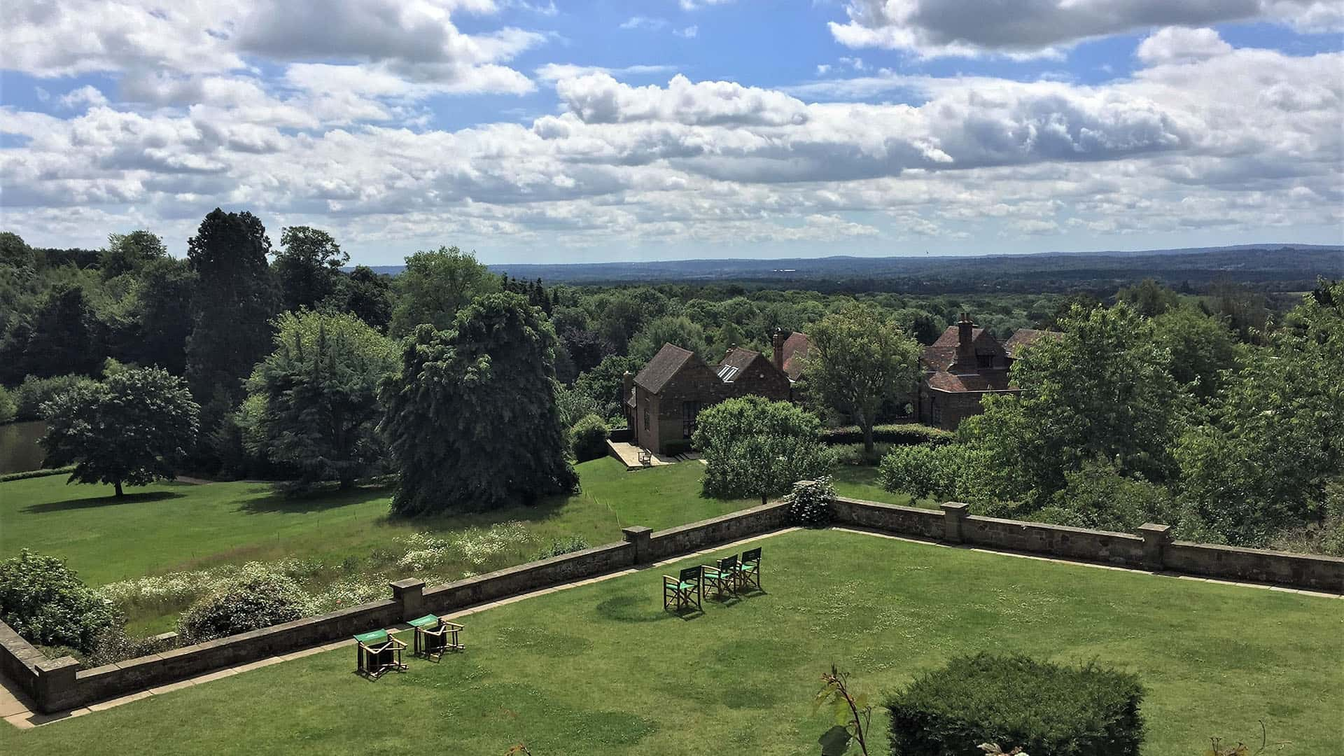 Views of Chartwell House gardens