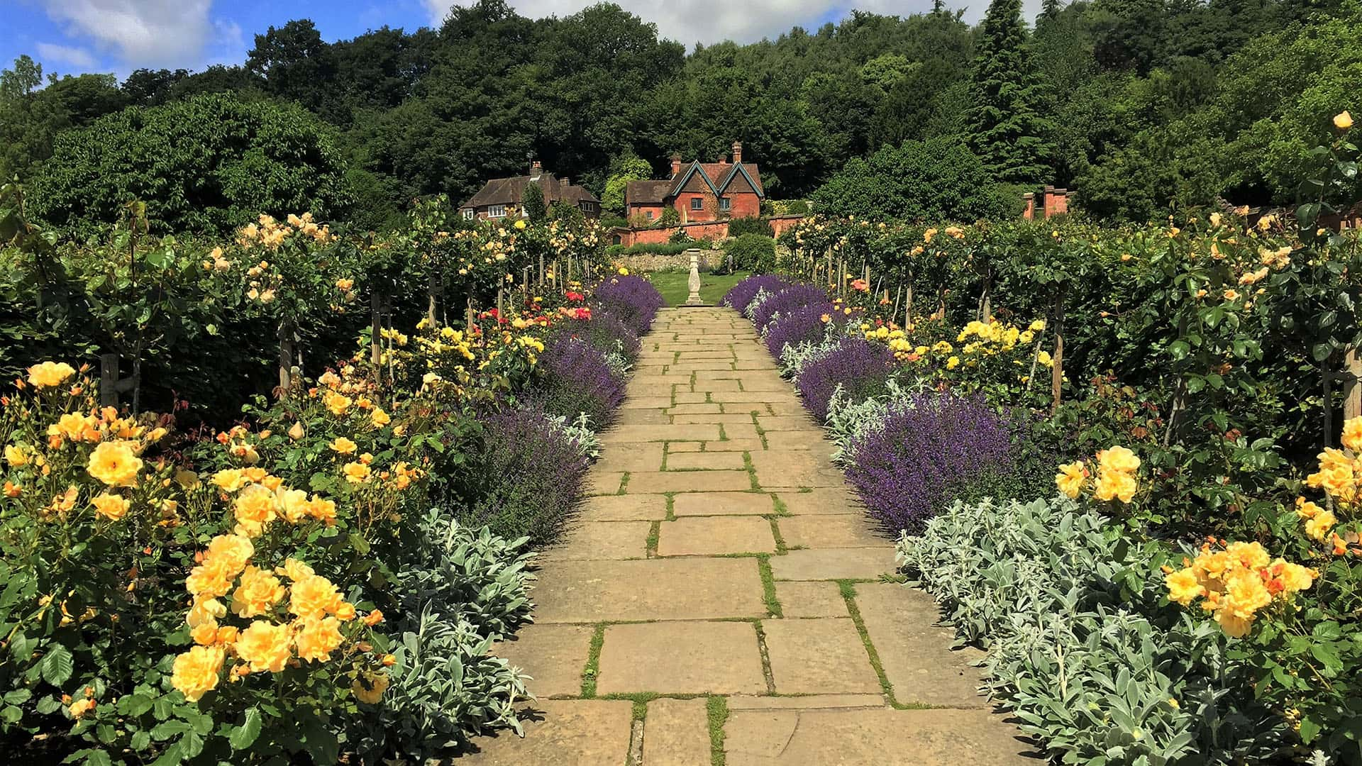 Path and flower beds at Chartwell House