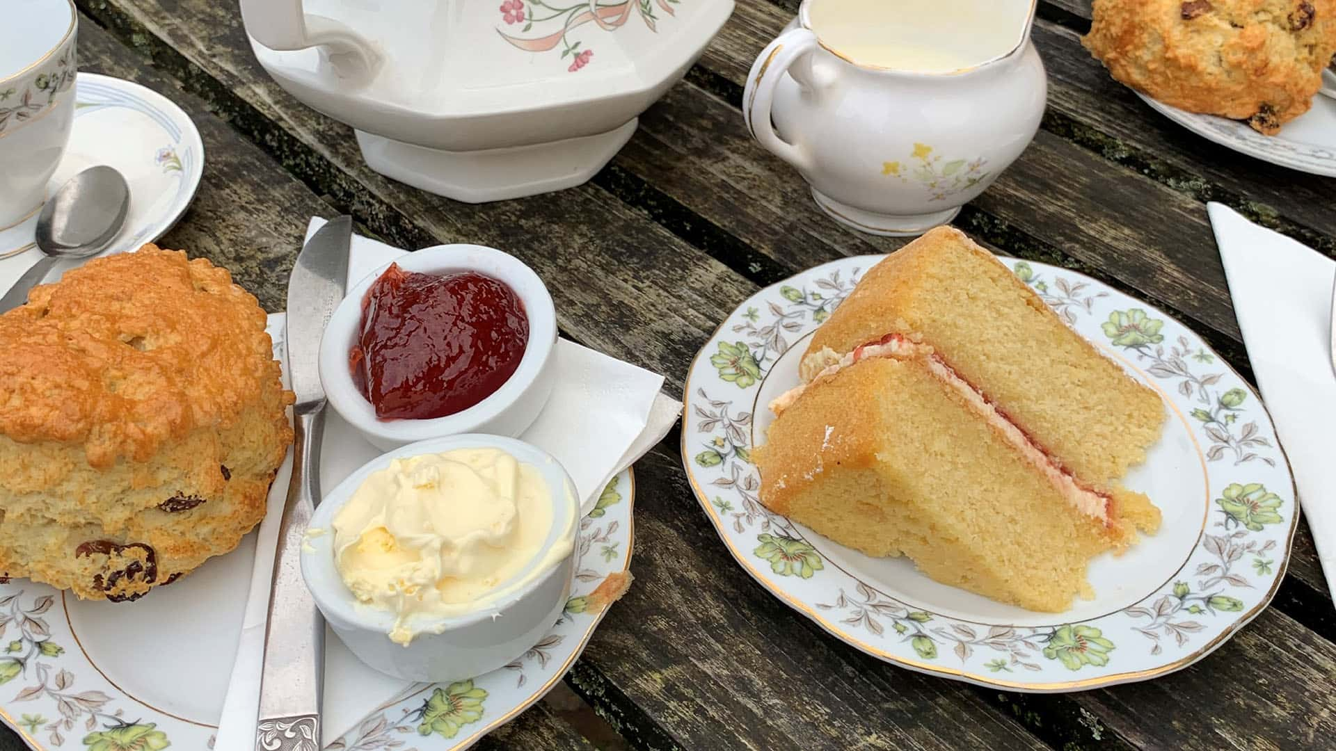 Cake and Scones at Hever Castle