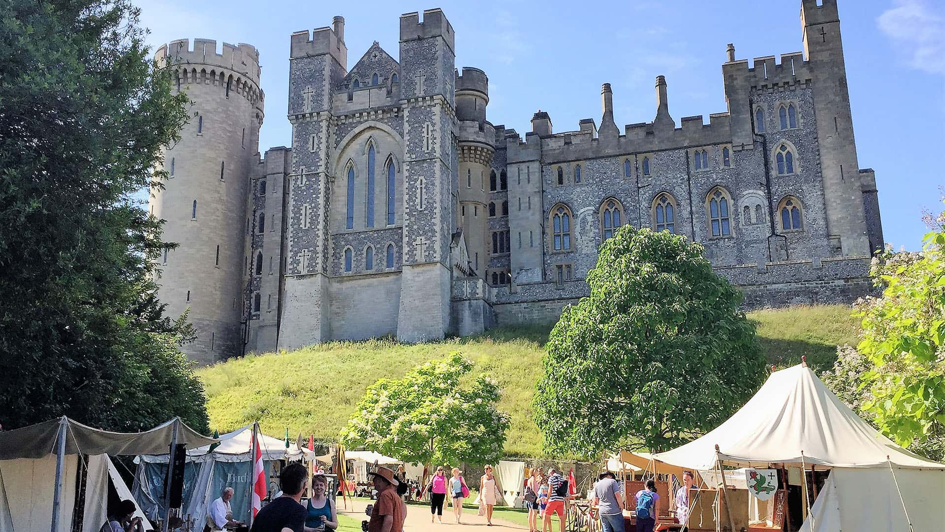 Arundel Castle up on the hill