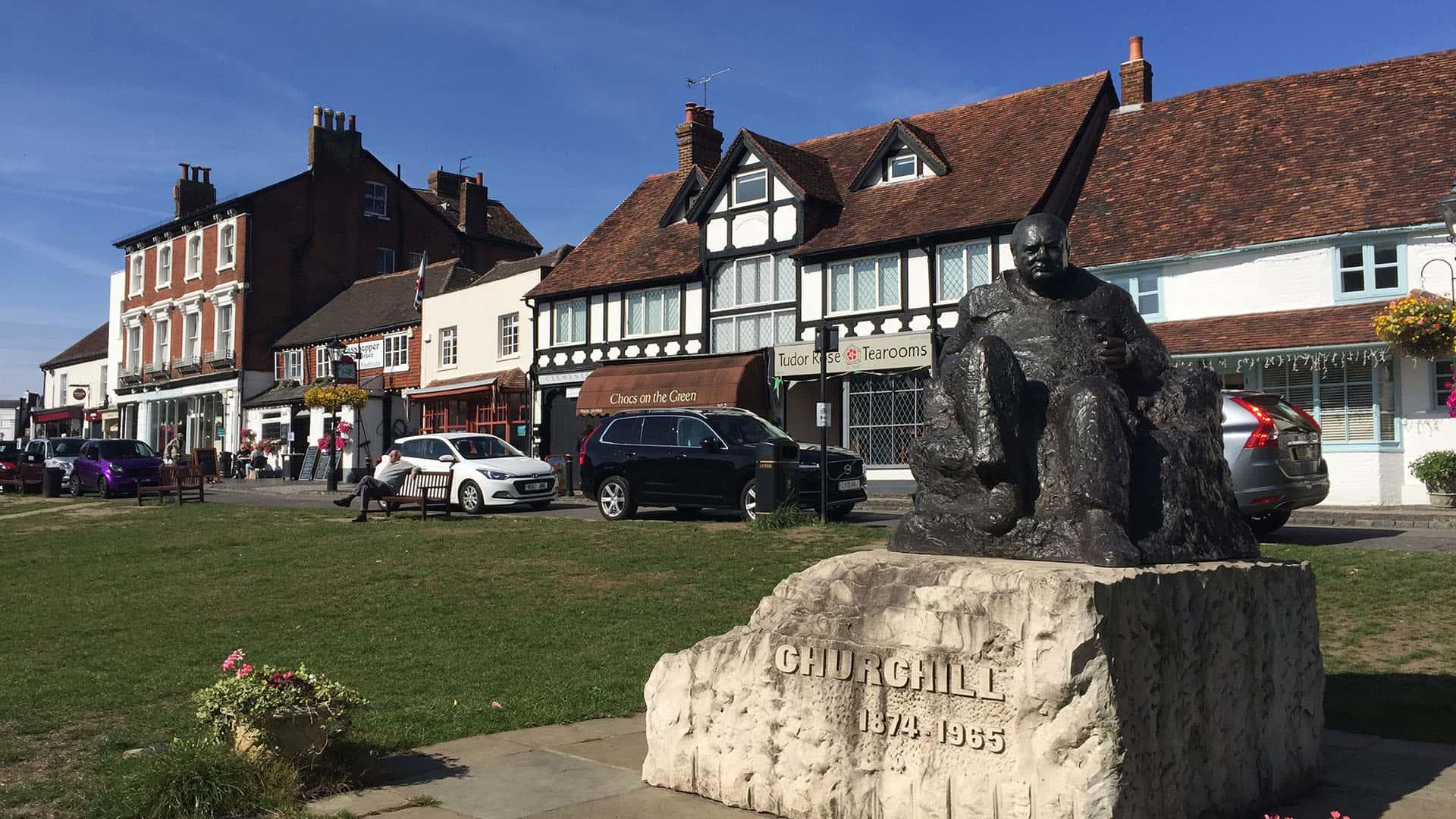 Churchill statue near Chartwell