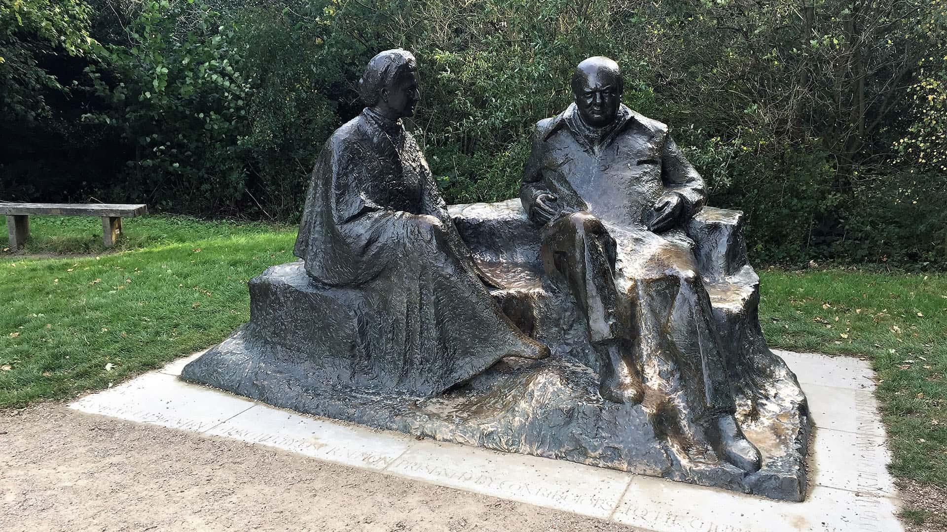 Churchill statue at Chartwell
