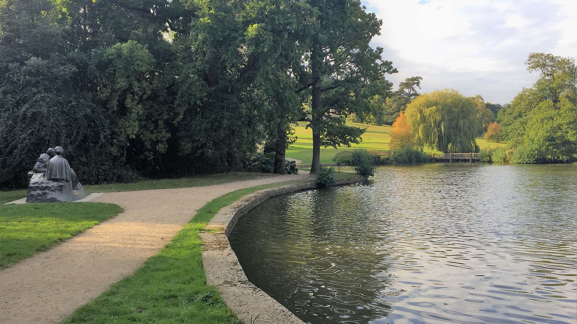 lakeside views at Chartwell House