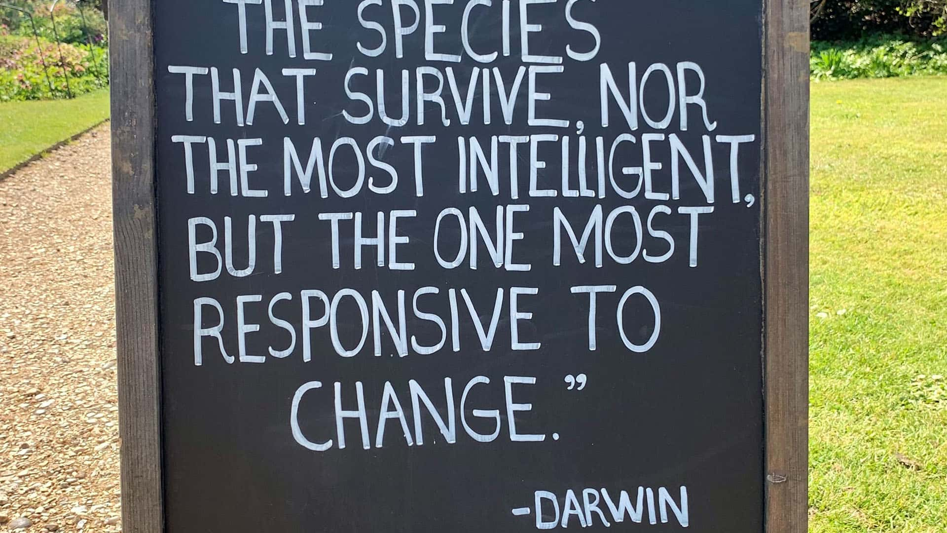 Charles Darwin Quote – Down House