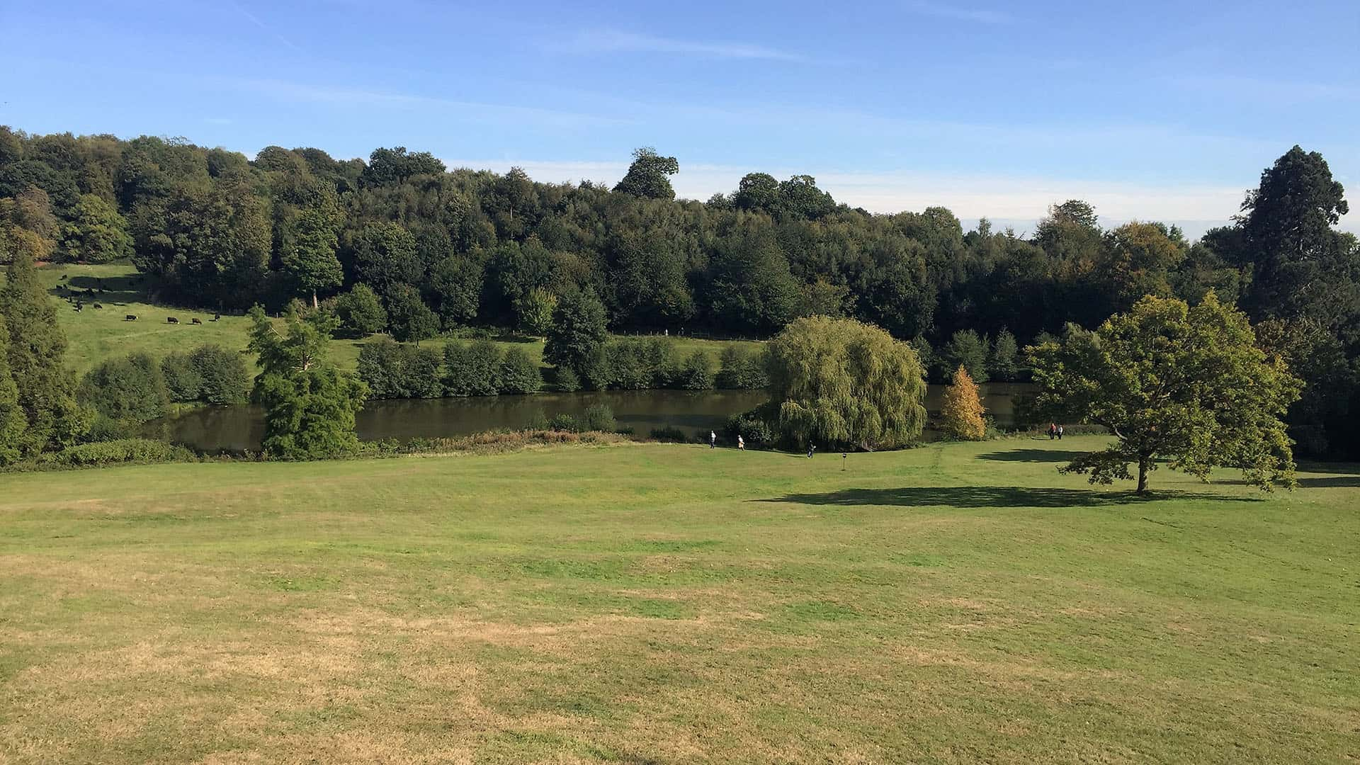 Chartwell gardens and lake