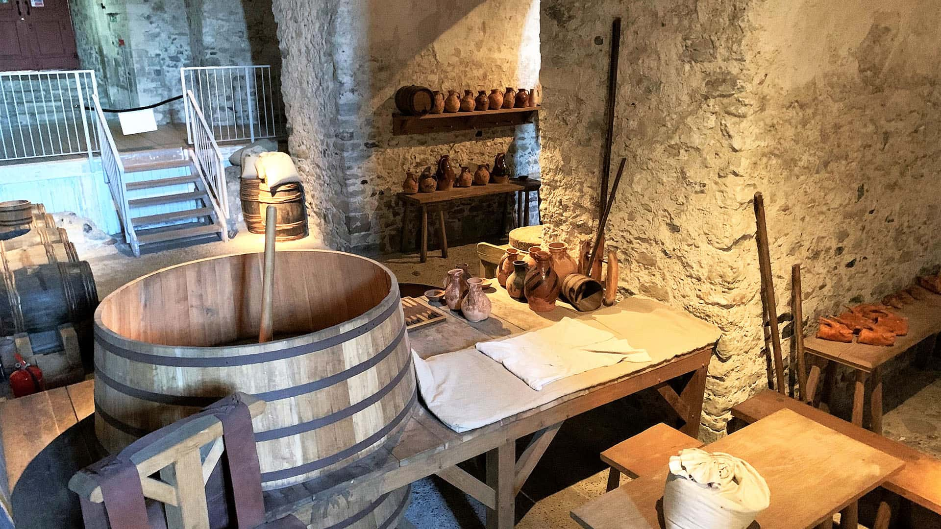 Pottery and cooking in Dover Castle