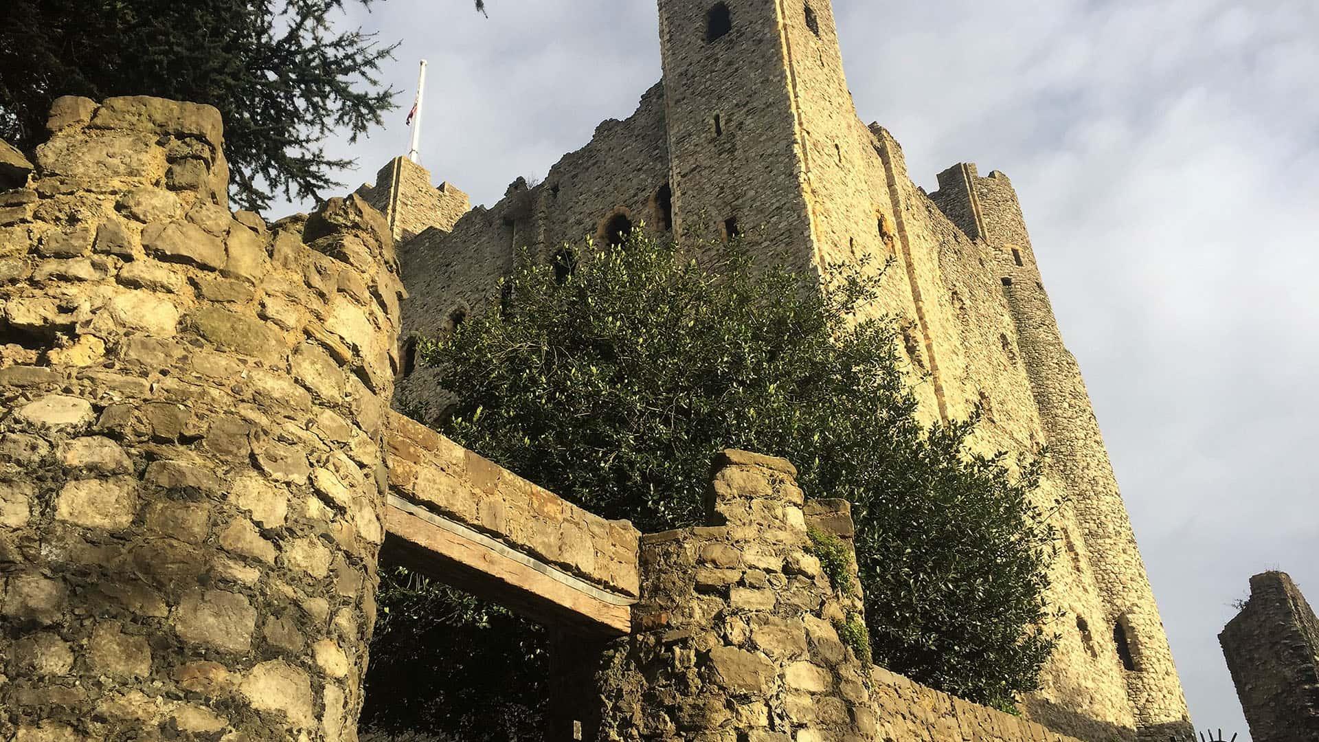 Rochester Castle from below