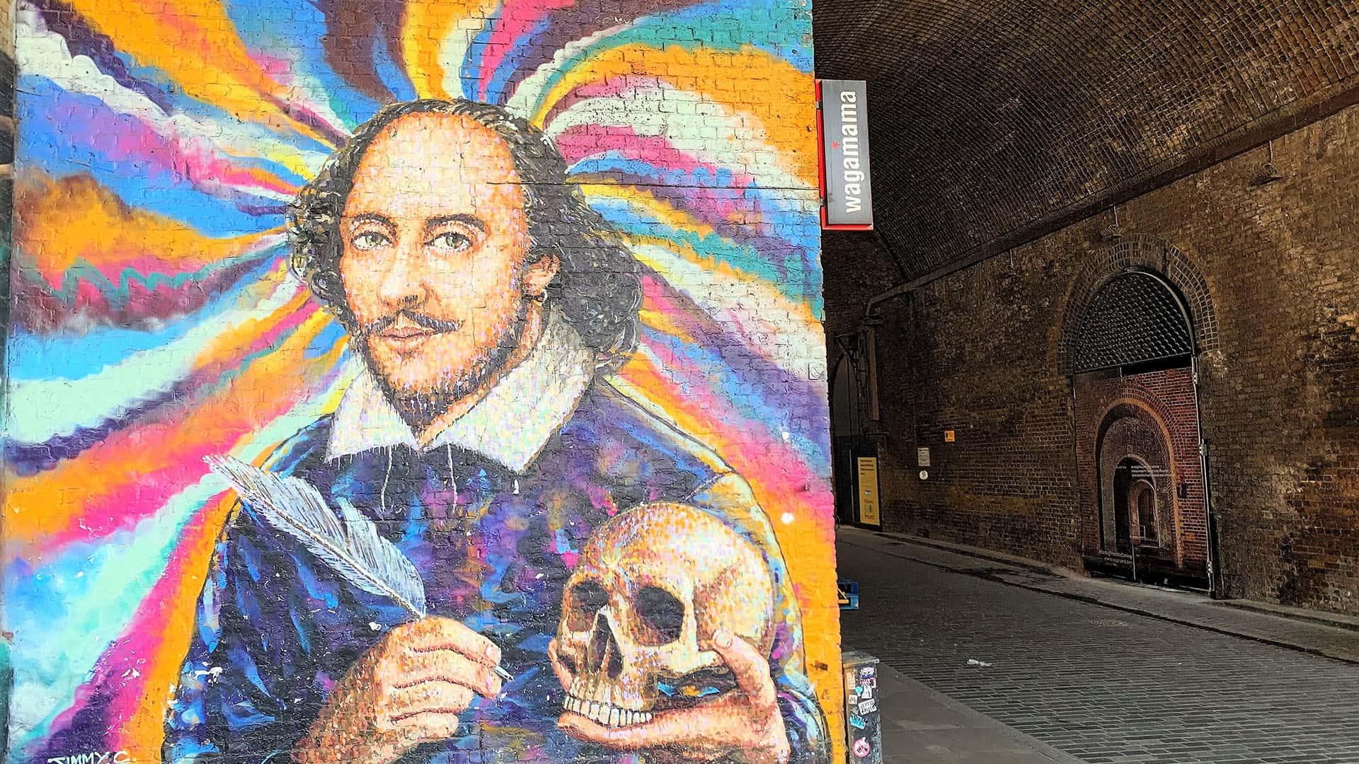 Mural of William Shakespeare – London Virtual Tour