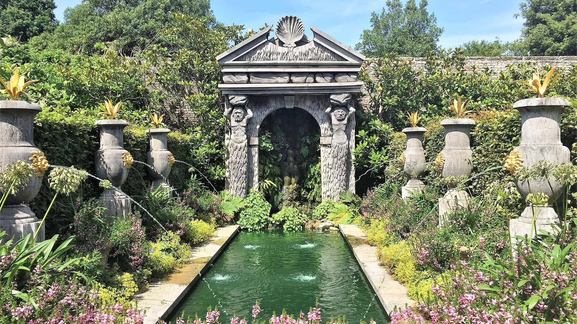 Water feature n Arundel Castle Gardens