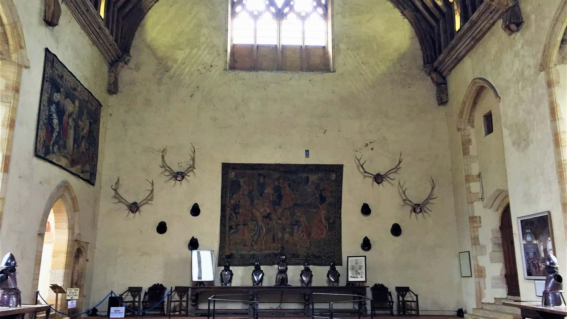 Stag Antlers and Tapestry in Penshurst Place